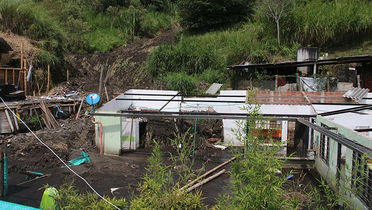 El riesgo de deslizamiento en 35 sectores de Armenia persiste