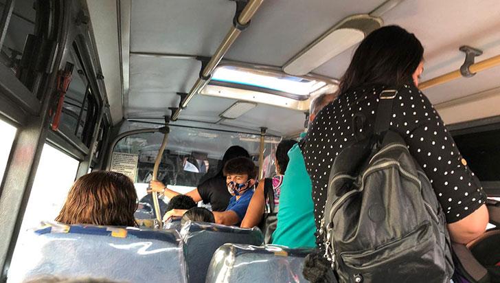 Más pasajeros en el transporte público, pero menos protocolos de bioseguridad