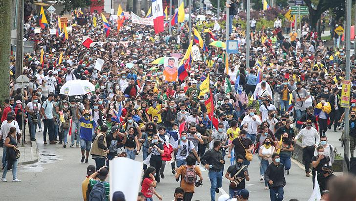 En Armenia la marcha de la inconformidad fue en paz