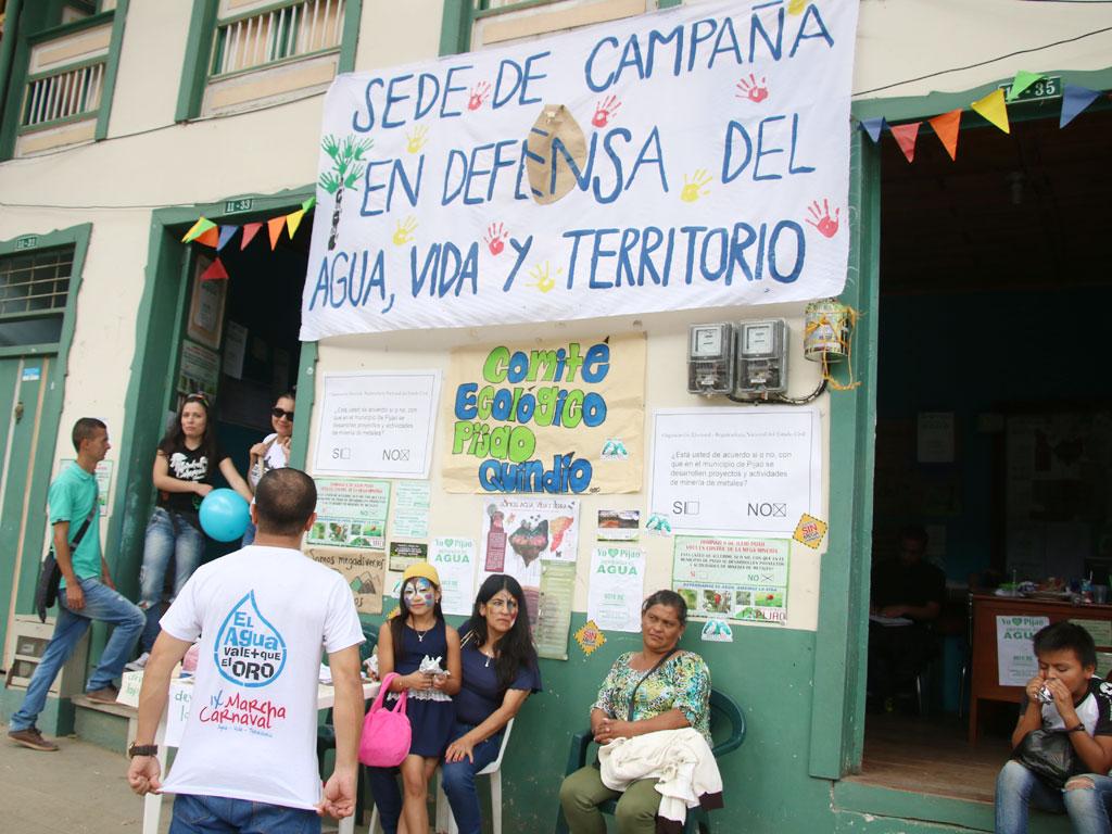 En fotos: Así vivió el pueblo de Pijao la consulta popular minera de este domingo