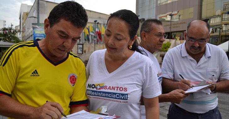 Centro Democrático en el Quindío busca 100 mil firmas contra el plebiscito