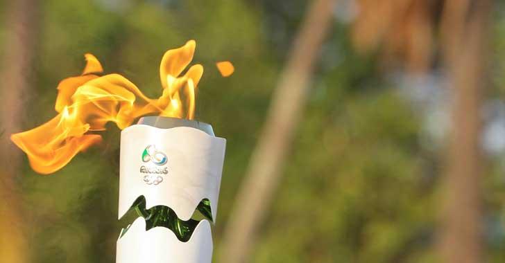 El recorrido de la llama Olímpica
