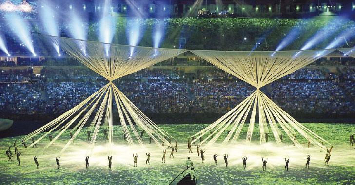 La historia de Brasil  se ilustró con magia, luces y colores