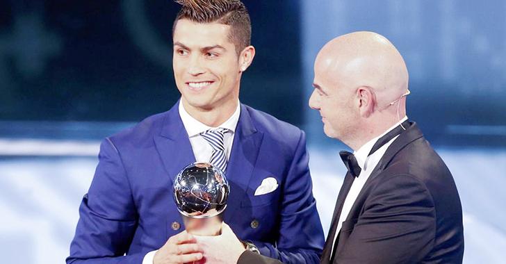 El primer The Best fue para el portugués Cristiano Ronaldo