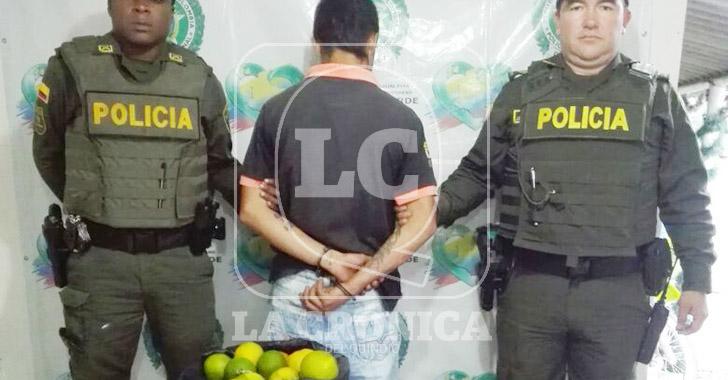 Lo sorprendieron hurtando productos agrícolas en Barragán