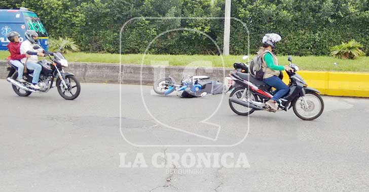 Domicilio herido al accidentarse en su moto