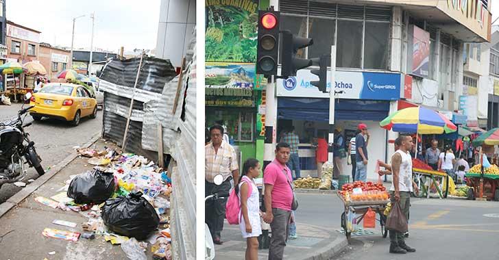 Vendedores de frutas y verduras se apoderaron de calles y andenes