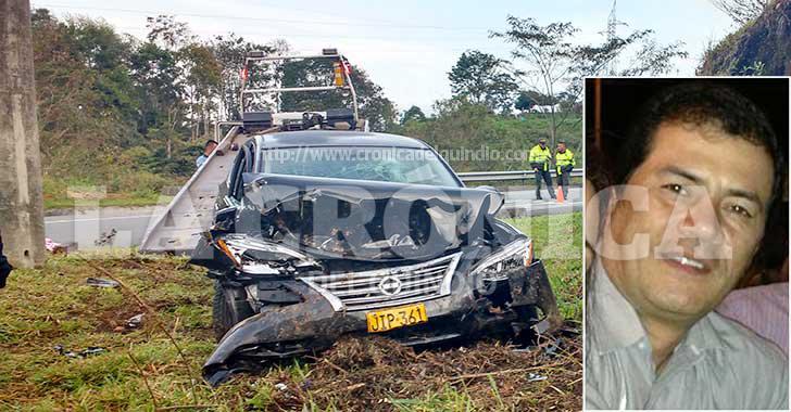 En colisión de vehículo falleció el gerente de colchones Universal