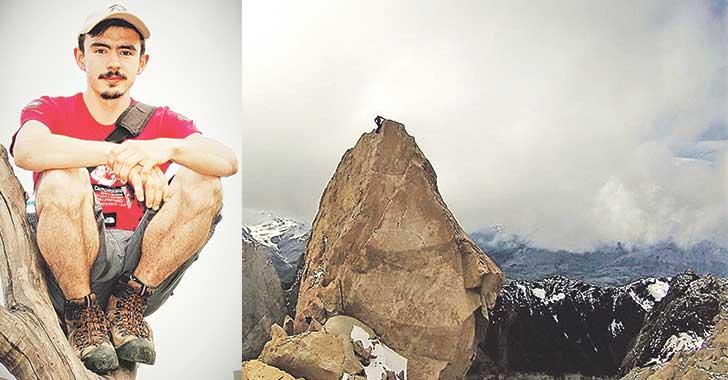 Nicolás Giraldo E., escalador quindiano 'amarrado' a la montaña