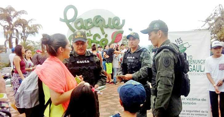 Visitantes del Parque del Café le dijeron no a las extorsiones