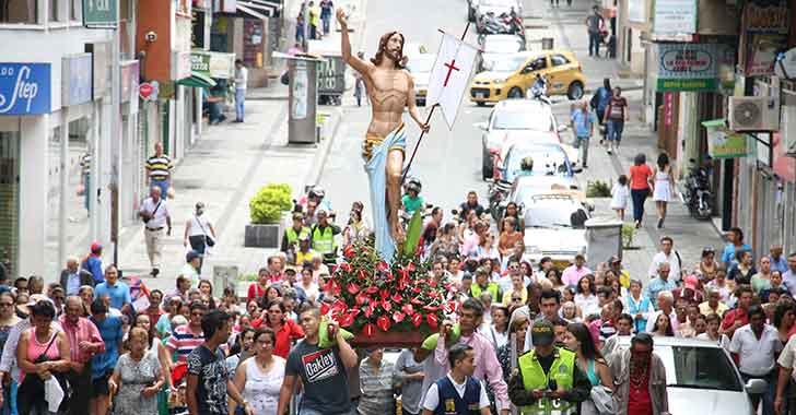 'Resucitó' participación de feligreses en la Semana Mayor en el Quindío