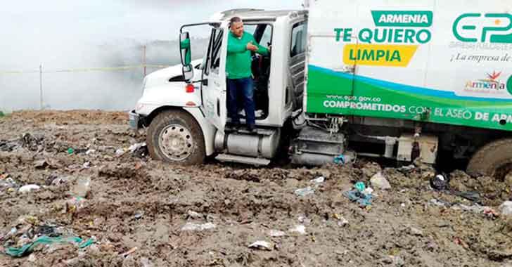 Lluvias afectan operación de recolección del servicio de aseo