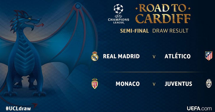 Atlético - Real y Juventus - Mónaco, las semifinales de la Champions League