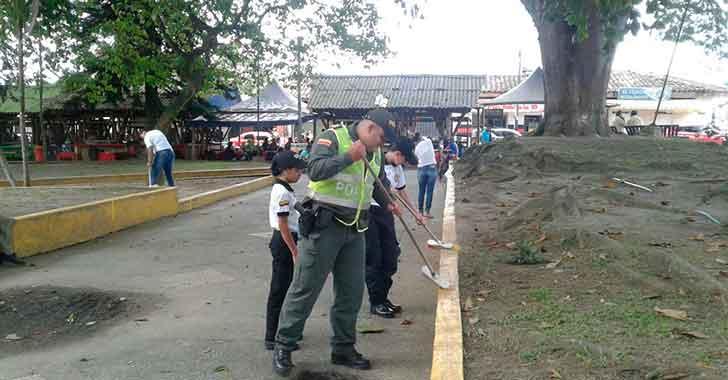Policía trabaja para darle una mejor cara a La Tebaida