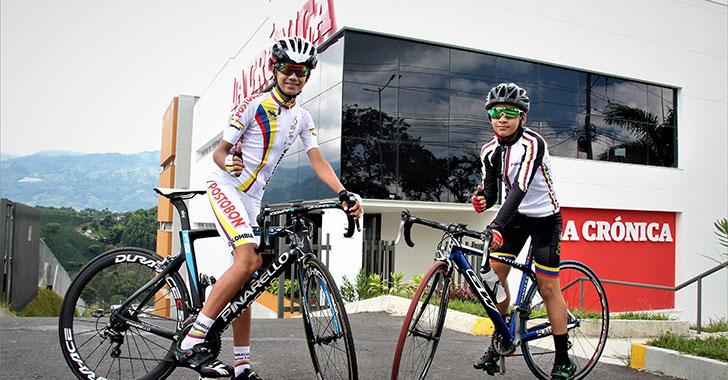 Santiago Carvajal y Camilo Guevara, ciclistas por la gloria en México
