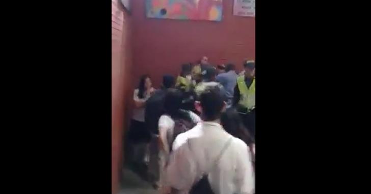Operativo policial en el colegio Inem terminó en confrontación