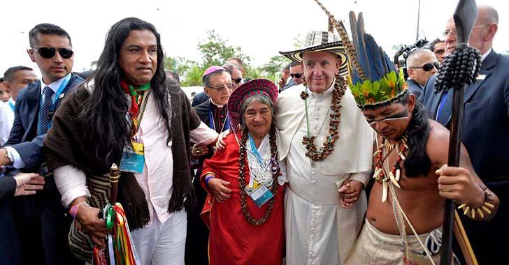 El papa vino a alfabetizar  sobre la paz y la reconciliación