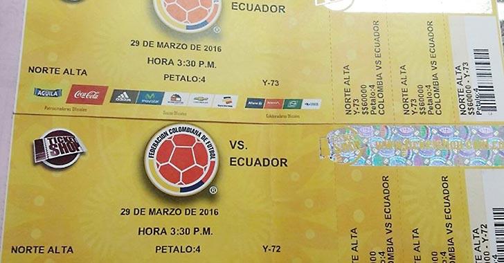 Venta de boletas Colombia-Paraguay será vigilada por la Superindustria