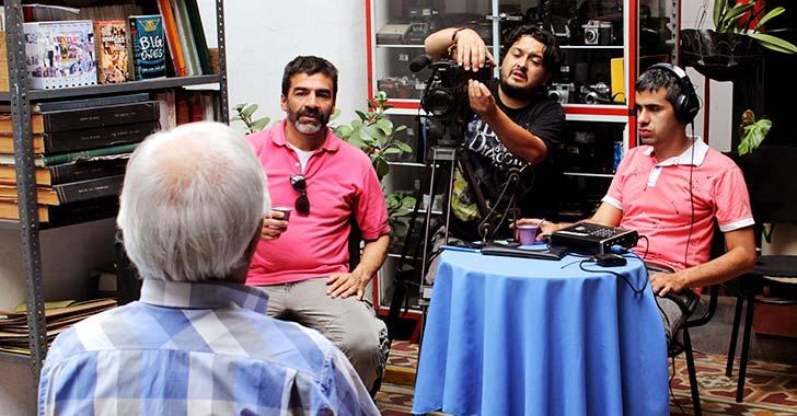 El hombre de las imágenes, 'corto' en Calarcá