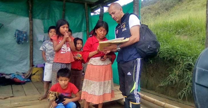 23 familias Embera Chamí de Calarcá resultaron afectadas por lluvias
