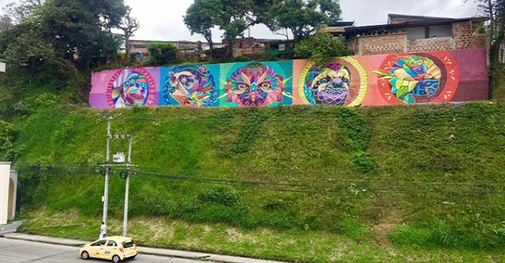 Mural de fauna, color y magia adorna la antigua estación del ferrocarril