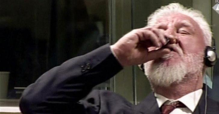 Criminal de guerra tomó veneno al escuchar su condena durante su juicio en La Haya
