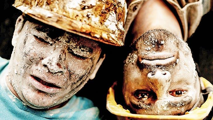 La Ruta y su obra Dos hombres en la mina