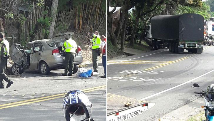 Tres heridos dejó accidente de tránsito en la vía La Tebaida – La Paila