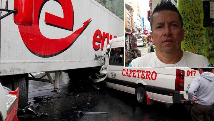 Un quindiano es una de las dos víctimas fatales de accidente en vía La Línea