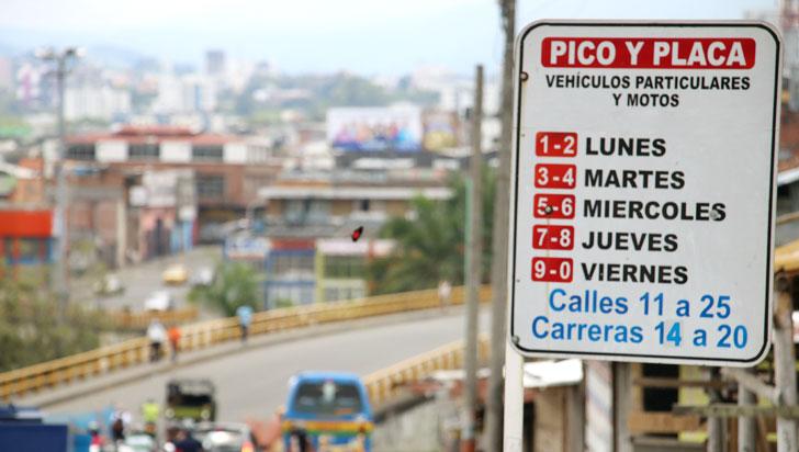 Turistas, exonerados de pagar sanción por Pico y Placa en Armenia