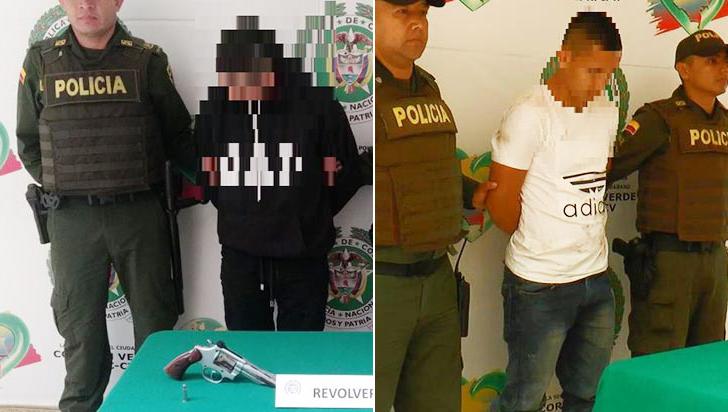 En el barrio Santander cayeron dos sujetos con armas de fuego ilegales