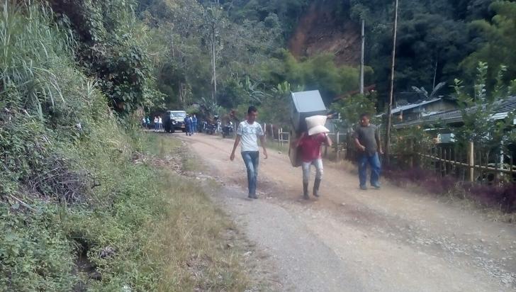 Tres familias evacuadas en Pijao por deslizamiento