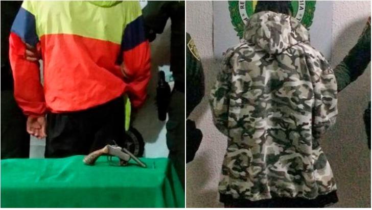 Dos menores fueron aprehendidos en Calarcá con un arma y drogas