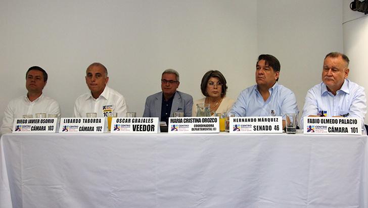 Centro Democráctico ratificó su apoyo a Hernando Márquez