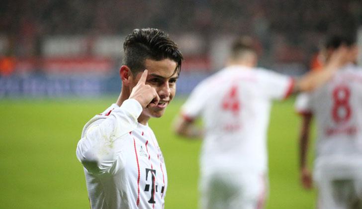 El golazo de falta de James Rodriguez aseguró la victoria del Bayern sobre el Leverkusen