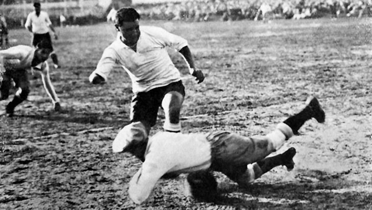 El 'Divino Manco', autor del primer gol uruguayo en un mundial