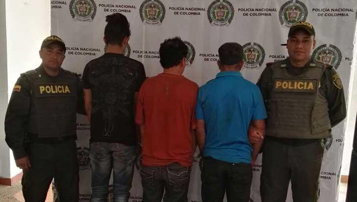 En La Tebaida, capturados tres sujetos por hurto en fincas