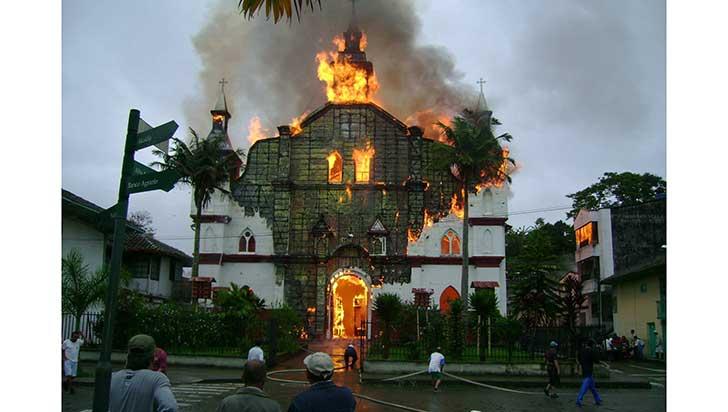 9 años después del incendio, Circasia continúa sin Nuestra Señora de las Mercedes