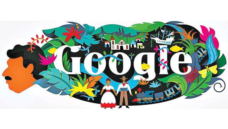 Google celebra natalicio 91 de García Márquez con 'doodle' de Macondo