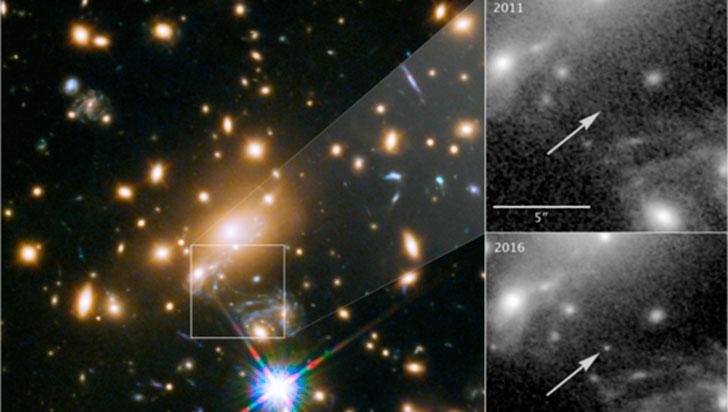 Telescopio Hubble captó la estrella más lejana jamás observada