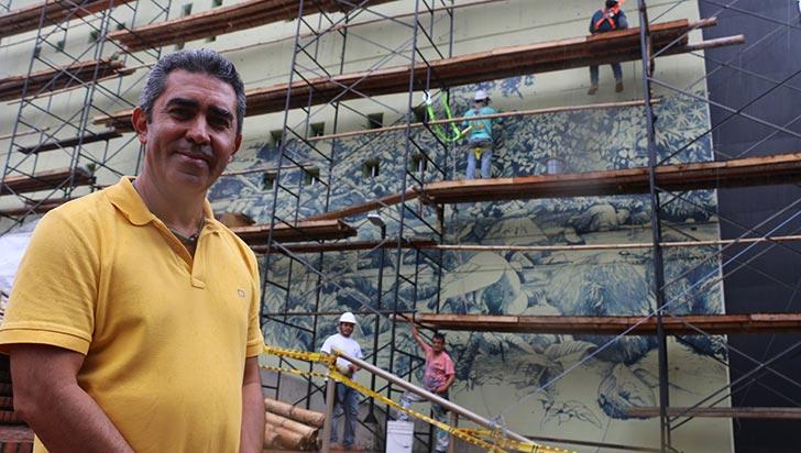 Armenia busca ser referente en muralismo, se empezaron cinco obras nuevas