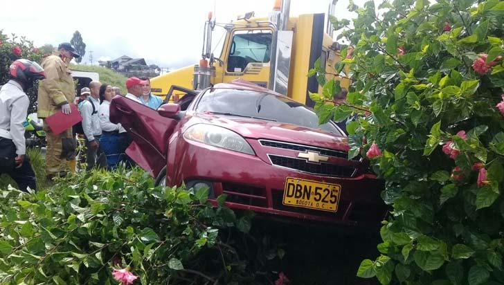 Accidente de tránsito en la Autopista del Café dejó dos personas lesionadas