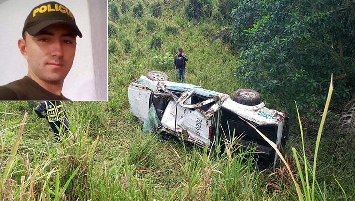 Falleció auxiliar de Policía en un accidente de tránsito en el alto de Barragán