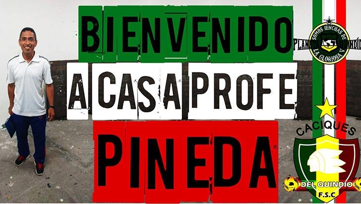 """""""He vuelto a Caciques  por el compromiso que se viene"""": César Pineda"""