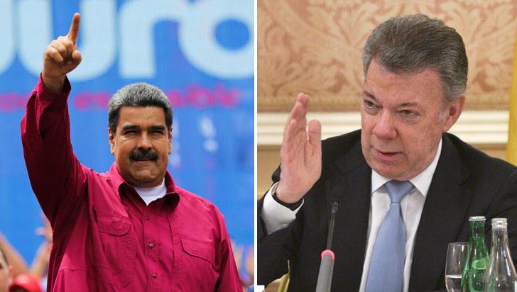 """Según Maduro, Santos prepara un """"enfrentamiento bélico"""" entre Colombia y Venezuela"""