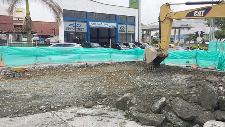 Iniciaron obras de rehabilitación de malla vial en el centro de Armenia