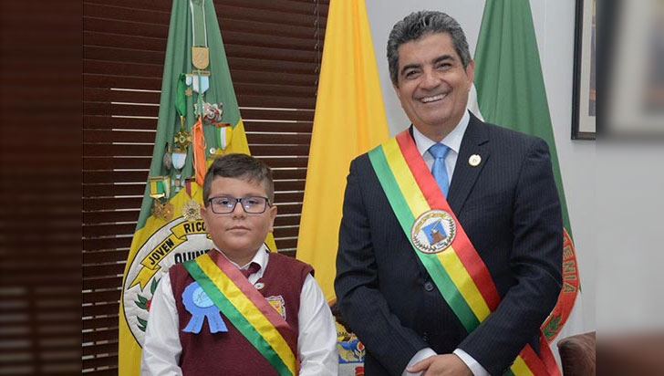 Nicolás Orozco López, nuevo gobernador infantil del Quindío