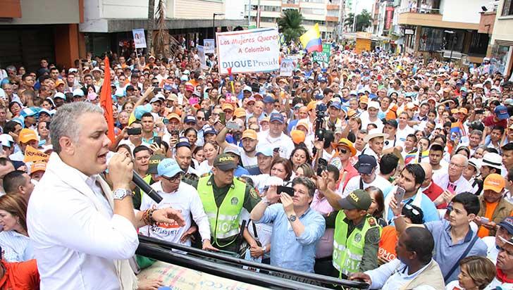 """Iván Duque: """"Quiero que turismo del Quindío sea el nuevo petróleo de Colombia"""""""