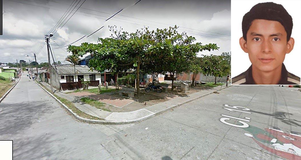 Carlos Alberto Cáceres fue asesinado en el barrio Guayacanes de La Tebaida