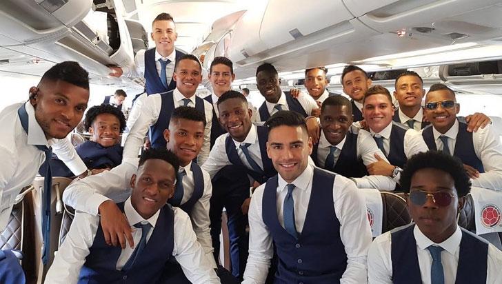 Selección Colombia aterrizó en Kazán a una semana de su debut ante Japón
